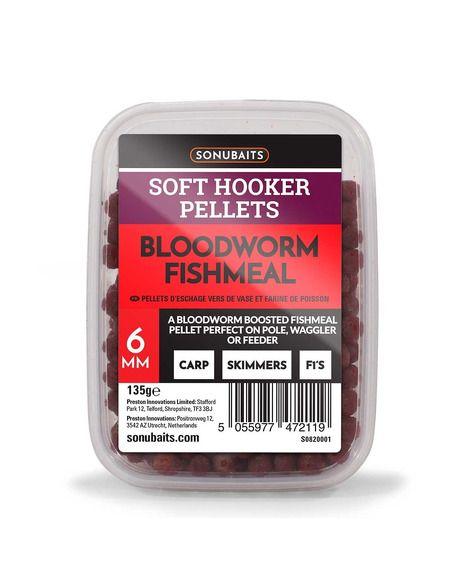 Пелети Sonubaits - Soft Hooker Pellets Bloodworm Fishmeal - Sonubaits - Пелети за фидер - 1