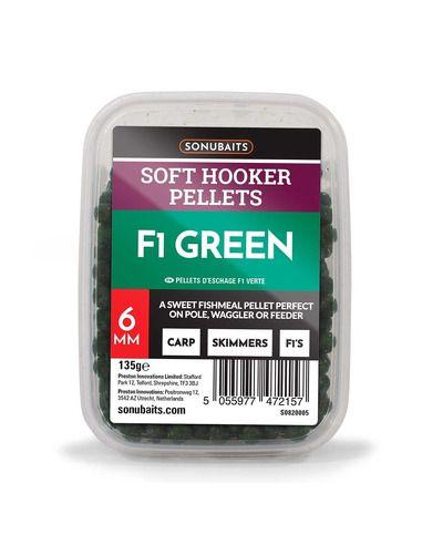 Пелети Sonubaits - Soft Hooker Pellets F1 Green - Sonubaits - Пелети за фидер - 1