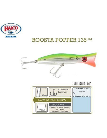 Воблери Halco Roosta Popper 135 - Halco - Воблери за спининг - 5