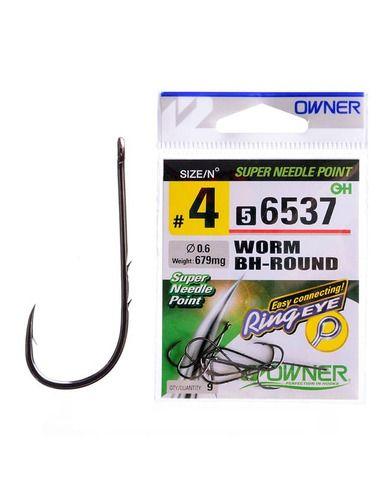 Куки Owner - Worm BH Round 56537 - Owner - Единични куки за морски риболов - 1
