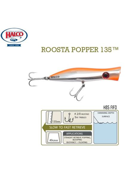 Воблери Halco - Roosta Popper 105 - Halco - Воблери за спининг - 6