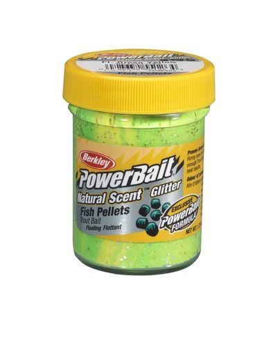 Паста Berkley Natural Glitter - Fish Pellet Green/Yellow - Berkley - Стръв за риболов на плувка - 1