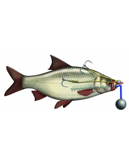 Монтаж Black Cat - R+S Baitfish Rig 180 ГР. - Black Cat - Готови монтажи за сомски риболов - 2