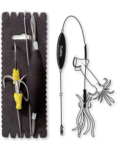 Монтаж Black Cat - Subfloat Worm Calamari - XL - Black Cat - Готови монтажи за сомски риболов - 1