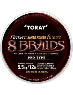 Плетено влакно Toray - Bawo Super Power Finesse 8 Braids https://goo.gl/maps/5LEQaNQALzn