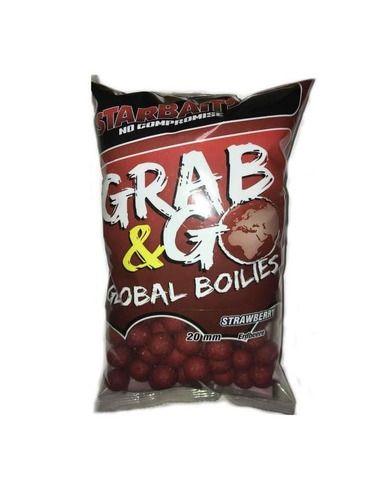 Протеинови топчета Starbaits - Global Boilies Strawberry - Starbaits - Протеинови топчета за шарански риболов - 1