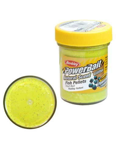 Паста Berkley - Natural Glitter - Pellet Yellow - Berkley - Стръв за риболов на плувка - 1