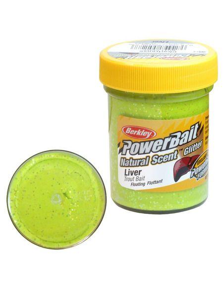 Паста Berkley - Natural Glitter - Liver Chartreuse - Berkley - Стръв за риболов на плувка - 1