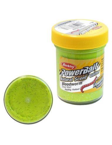 Паста Berkley Natural Glitter - Bloodworm Chartreuse - Berkley - Стръв - 1