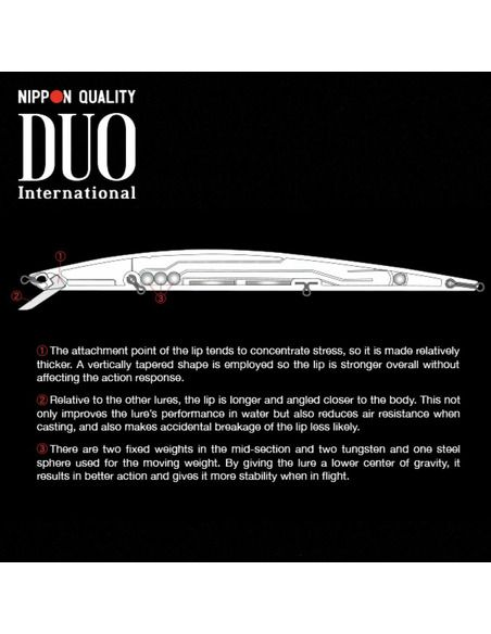 Воблер DUO - Tide Minnow Slim Flyer 140 - DUO - Воблери - 3