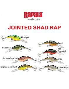 Воблер Rapala - Jointed Shad Rap 7 - Rapala - Воблери - 1
