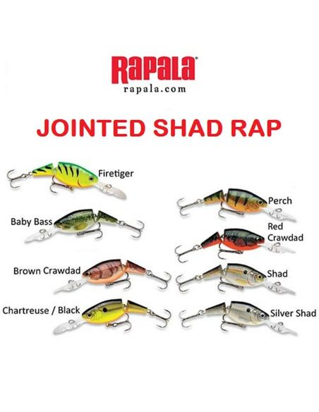 Воблер Rapala - Jointed Shad Rap 7 - Rapala - Воблери - 1