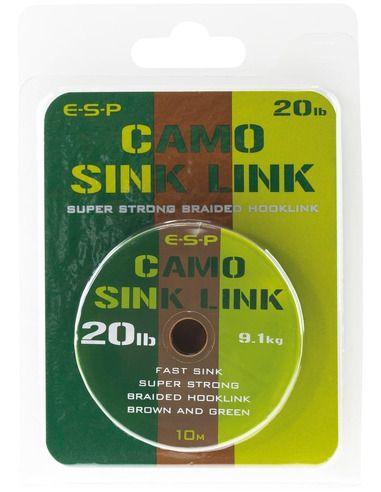 Шаранджийски повод ESP - Camo Sink Link - E.S.P. - Плетени влакна за поводи и монтажи - 1