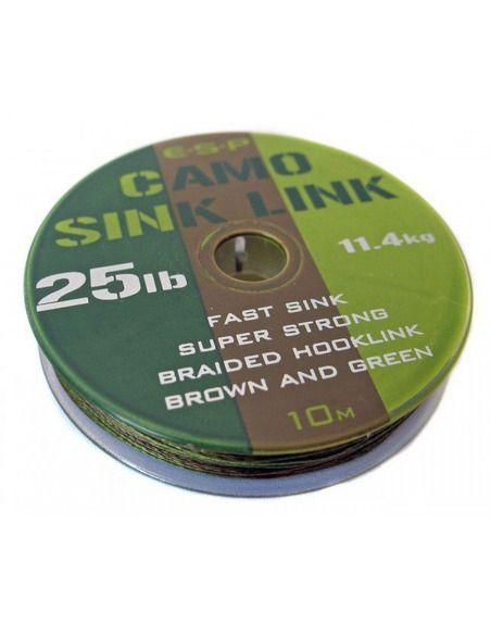 Шаранджийски повод ESP - Camo Sink Link - E.S.P. - Плетени влакна за поводи и монтажи - 2