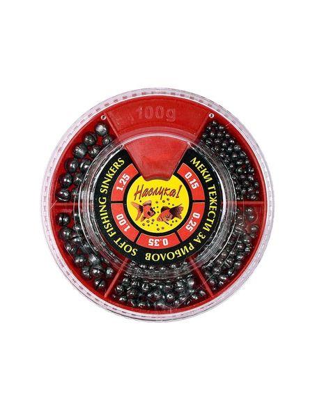 Оловни тежести Наслука - Червена кутия - Наслука - Тежести за плувка - 1